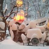 So sieht der Hinterhof von Sarah Jessica Parkers Haus in New York aus.