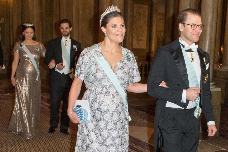 Prinzessin Victoria und Prinzessin Sofia beim Galadinner