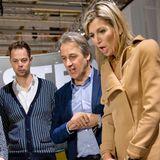 25. Oktober 2016: Königin Maxima besucht die Dutch Design Woche in Eindhoven und lässt sich von den neuesten Entwicklungen beeindrucken. Allerdings entgleiten ihr für einen Bruchteil die Gesichtszüge, als sie diese Babypuppen sieht.
