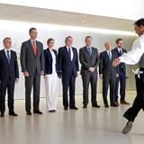 """17. Juni 2016: König Felipe und Königin Letizia schauen sich im Rahmne der """"1516-2016. Peace Treaties"""" im San Telmo Museum in San Sebastian eine baskische Tanzvorführung an."""