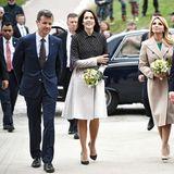 13. April 2016: Prinz Frederik und Prinzessin Mary empfangen Mexikos Präsident Enrique Pena Nieto und seine Frau Angelica Rivera am Flughafen von Kopenhagen.