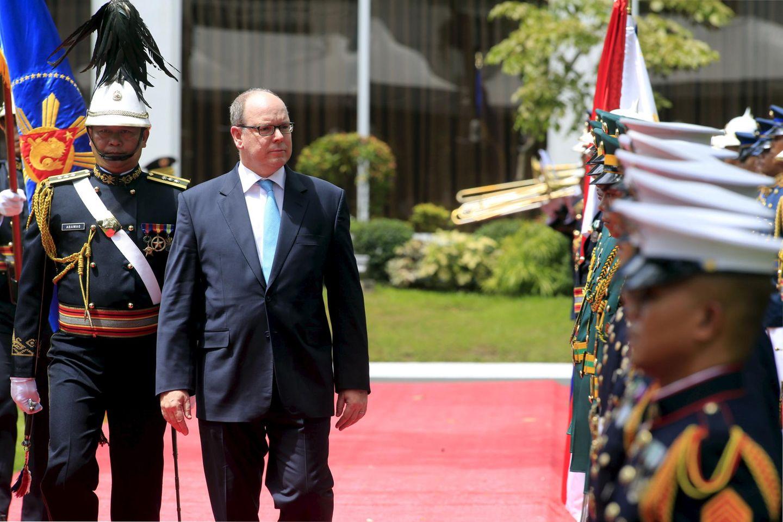 7. April 2016: Fürst Albert wird offiziell in Manila auf den Philippinen empfangen.