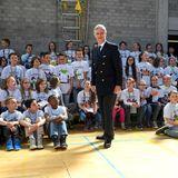 19. April 2016: König Philippe besucht im belgischen Ort Minderhout im Rahmen des Prinz-Philippe-Fonds die Grundschule Scharrel.