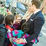 3. Mai 2016: Prinz Daniel besucht die Värnhemsskolan und die Malmö Hochschule und wird begeistert empfangen.
