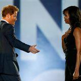 """8. Mai 2016: Prinz Harry und First Lady Michelle Obama eröffnen gemeinsam die """"Invictus Games"""" in Orlando."""