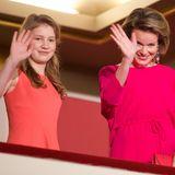 28. Mai 2016: Gemeinsamer Auftritt: Kronprinzessin Elisabeth und Königin Mathilde sind im Palais des Beaux-Arts bei dem sechsten Finale des Königin Elisabeth Klavierwettbewerbs in Brüssel.