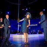 "20. Mai 2016: Königin Máxima tauft das Kreuzfahrtschiff ""MS Koningsdam"" der Holland America Line."
