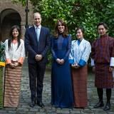 6. April 2016: Prinz William und Herzogin Catherine nehmen an einem Empfang im Kensington Palast für junge Menschen aus Indien und dem Königreich Bhutan teil.