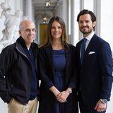 14. Mai 2016: Prinzessin Sofia und Prinz Carl Philip treffen den US-amerikanischen Filmproduzent Jeffrey Katzenberg im königlichen Schloss in Stockholm.