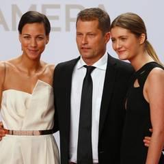 Til Schweiger hat seine neue Liebe Marlene Shirley (l.) und Tochter Lilli mitgebracht.