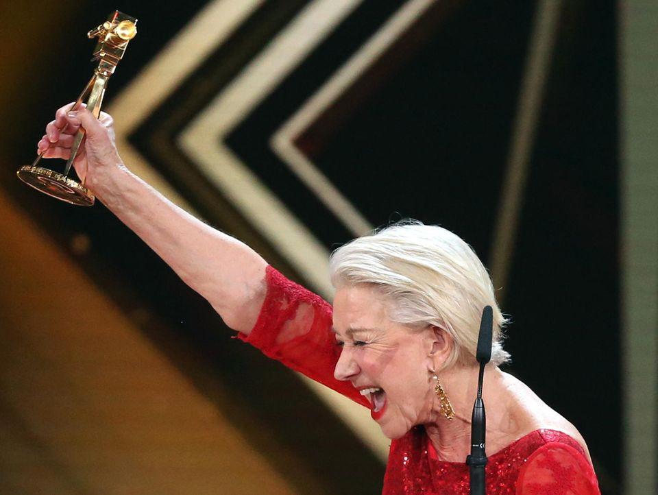 Helen Mirren freut sich riesig über die Auszeichnung für ihr Lebenswerk.