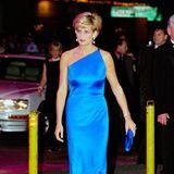 Im leuchtend blauen One-Shoulder-Abendkleid bezaubert Diana die Gäste eines Charity-Dinners in Sydney.