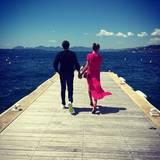 """Mai 2016  Dieses Bild mit ihrem Liebsten beschreibt Heidi Klum auf Instagram kurz und knapp mit """"Sunshine""""."""