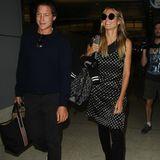 September 2016  Gut gelandet sind Heidi Klum und Vito Schnabel am Flughafen von Los Angeles gelandet.