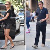 24. Juni 2016  Eine strahlende Heidi und ein müde wirkender Vito - mit einem großen Becher Kaffee - verlassen das Greenwich Hotel in New York.