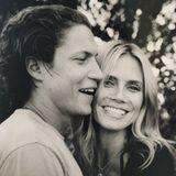 """27. Juli 2016  Süßer Geburtstagsgruß von Heidi Klum an ihren Freund Vito Schnabel: """"Happy Birthday my LOVE"""", postet sie zu diesem liebevollen Foto der beiden."""