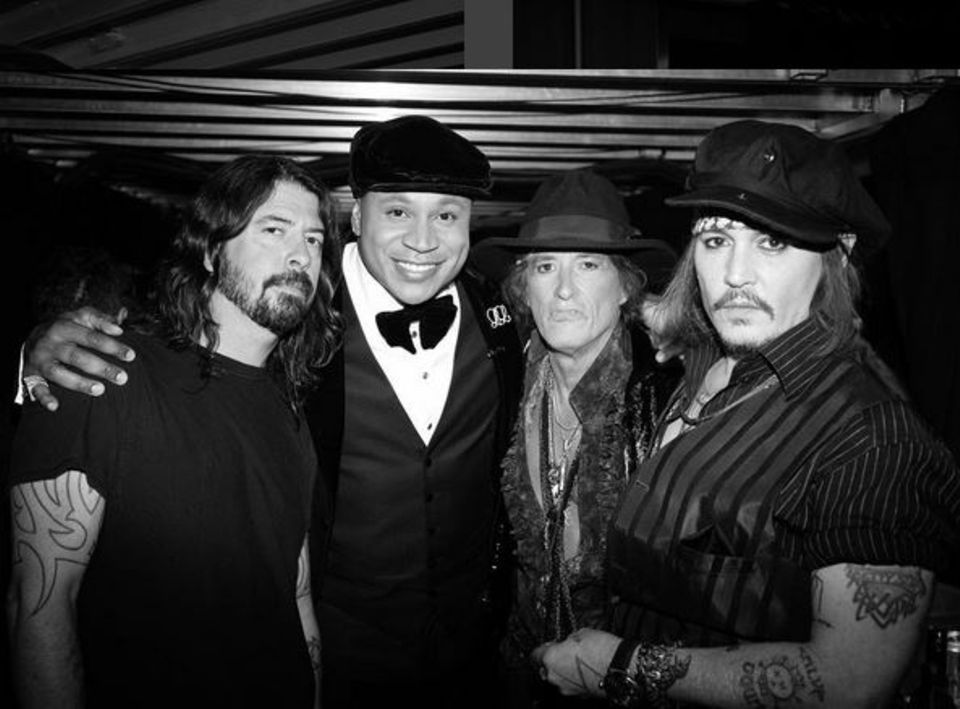 Dave Grohl, LL Cool J, Joe Perry und Johnny Depp