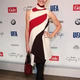 Tagesschau-Moderatorin Judith Rakers hat sich für ein tolles Kleid im Sixties-Style entschieden.