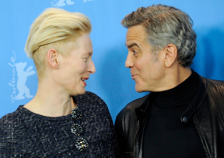 Tilda Swinton und George Clooney