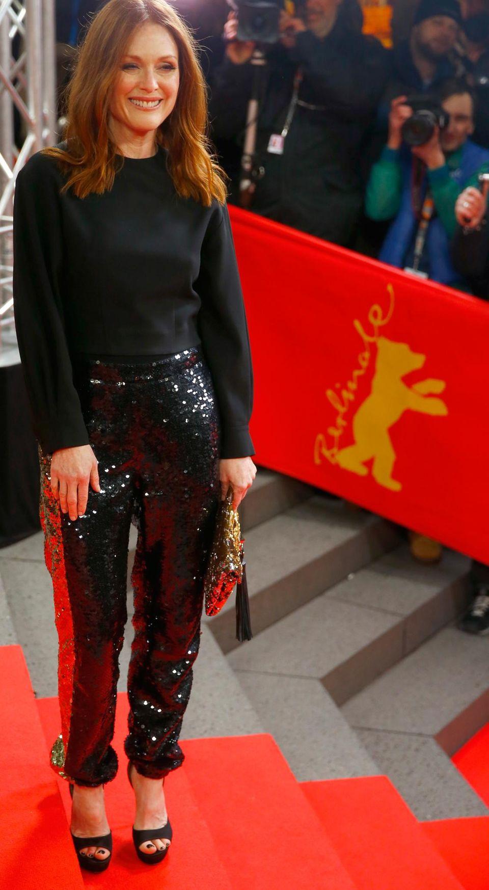 """Auch die Hollywood-Schauspielerin Julianne Moore ist nach Berlin gereist. Sie präsentiert den Film """"Maggie's Plan""""."""