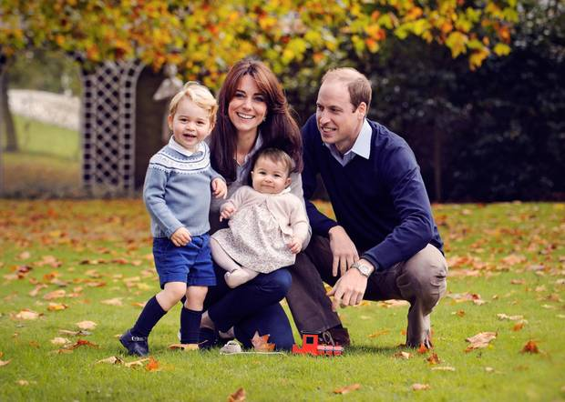 Prinz William, Herzogin Catherine und ihre beiden Kinder Charlotte und George