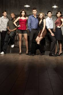 One Tree Hill  Von 2003 bis 2012 stehen Lee Norris, Antwon Tanner, Sophia Bush, Chad Michael Murray, Hilarie Burton, James Lafferty und Bethany Joy Galeotti für diese US-Serie vor der Kamera.