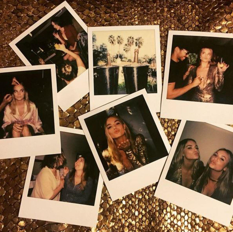 Margot Robbie lässt den Abend mit einer kleinen Foto-Sammlung Revue passieren.
