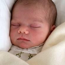 Wer ist wer? Die jeweils ersten Babybilder sind zum Verwechseln ähnlich: Links sehen wir Prinzessin Estelle nach ihrer Geburt im Februar 2012 und rechts ist das erste Foto von ihrem kleinen Bruder, Prinz Oscar, von Anfang März 2016.