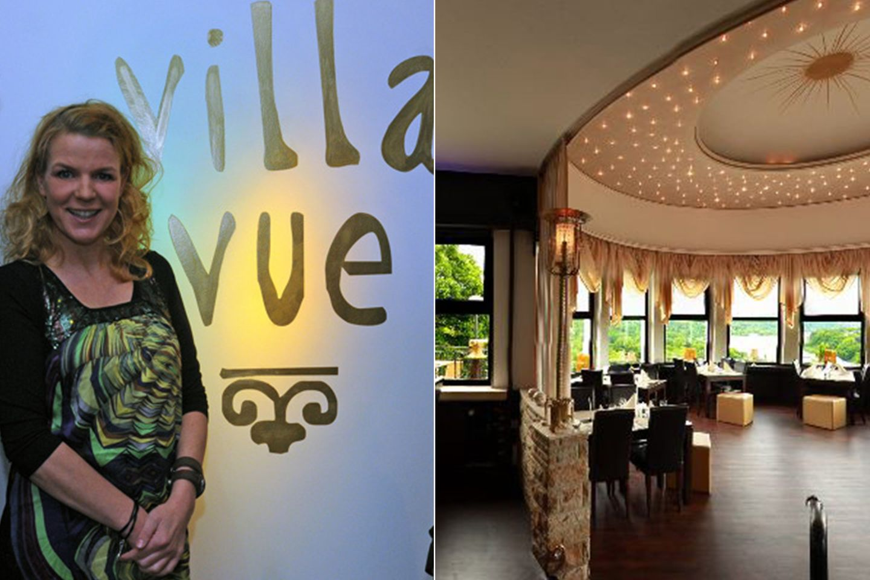 """Villa Vue  Wo sonst sollte man ein Restaurant eröffnen wenn nicht in der Ruhrmetropole Essen. Mirja Boes machte in 2012 ernst und eröffnete die """"Villa Vue"""" in traumhafter Lage mit freiem Blick auf den Baldeneysee. Aus der Küche kommt kein Schicki-Micki sondern deutsche, bodenständige Gerichte. Und Kaffee und Kuchen - Kännchen nur draußen."""