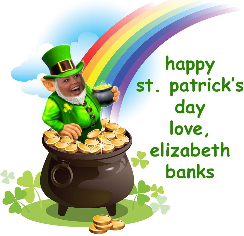 st. patrick's day, grün, feiertag, feierlichkeiten, so feiern die stars, elizabeth banks