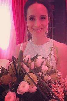 3. April 2016: Stephanie Stumph ist sichtlich erholt und bedankt sich für die tolle Zeit auf den Spa Awards in Baden Baden.