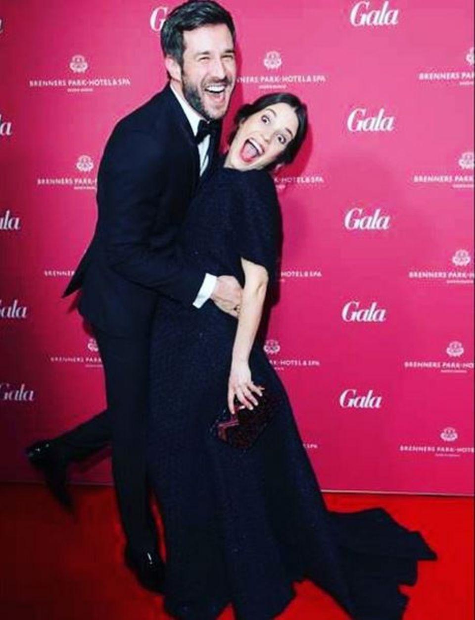 3. April 2016: Jochen Schropp mit Birthe Wolter tanzten erst über den roten Teppich und rockten anschließend die After-Show-Party.