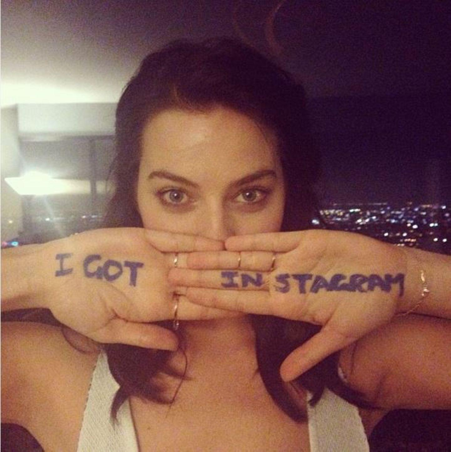 Die Schauspielerin Margot Robbie hat Humor: Sie postet dieses lustige Bild.
