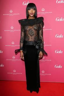 """Was für ein Kleid, was für eine Frau! Naomi Campbell war der Überraschungsgast des Abends und erhielt die Auszeichnung """"Beauty Idol"""" 2016."""