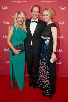 Astrid Bleeker (Director Brand Solutions GALA) mit G+J-Geschäftsführer Stefan Schäfer und GALA-Chefredakteurin Anne Meyer-Minnemann.