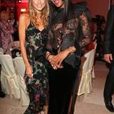 "Cathy Hummels mit Supermodel und ""Beauty Idol"" Naomi Campbell"