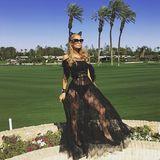 """Paris Hilton in Partystimmung: """"Coachella-Vibes"""", schreibt sie zu diesem Bild."""