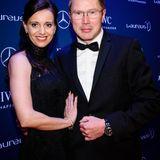 Mika Häkkinen mit seiner Lebenspartnerin Marketa Remesova