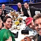 Nico Rosberg twittert von der Veranstaltung.
