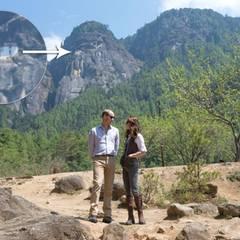 Tag 6  Am nächsten Tag wollen sich William und Catherine zu Fuß auf den Weg zu dem Tigernest-Kloster (Taktshang) hoch oben in den Bergen machen.