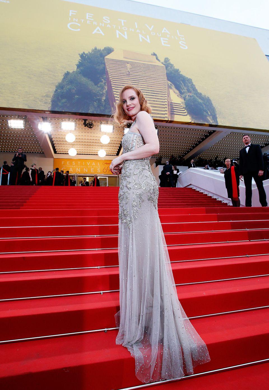 Jessica Chastain mit atemberaubender Schleppe in Cannes.