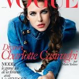 """2015: Charlotte Casiraghi auf der April-Ausgabe der französischen """"Vogue""""."""