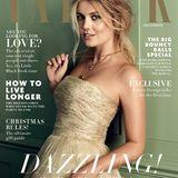 """2015: Lady Kitty Spencer, die Nichte von Lady Di, auf der Dezember-Ausgabe des britischen Magazins """"Tatler""""."""