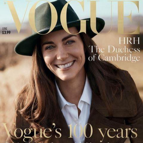 2016: Herzogin Catherine auf der Juni-Ausgabe der britischen Vogue.