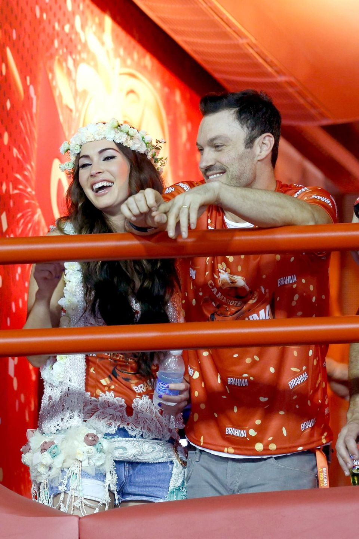 10. Februar 2013: Megan Fox aund Brian Austin Green feiern in Rio de Janeiro Karneval.