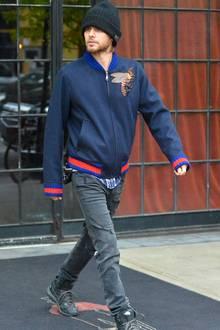 Taylor Swift + Tom Hiddleston: Jared Leto hingegen bleibt noch in New York und gönnt sich am Morgen nach der Met Gala erstmal einen Undercover-Spaziergang.