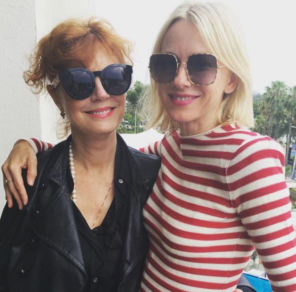 Susan Sarandon und Naomie Watts lassen es sich gut gehen and er Croisette.