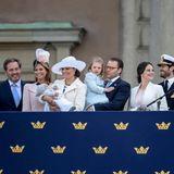 30. April 2016  Schwedens junge Royals strahlen um die Wette.