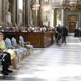 30. April 2016: Te Deum  Ein Blick in die Schlosskirche, wo bereits König Juan Carlos und Königin Sofia - Spaniens ehemaliges Königspaar - Platz genommen hat.