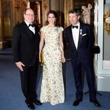 30. April 2016: Bankett  Fürst Albert mit Dänemarks Kronprinzenpaar